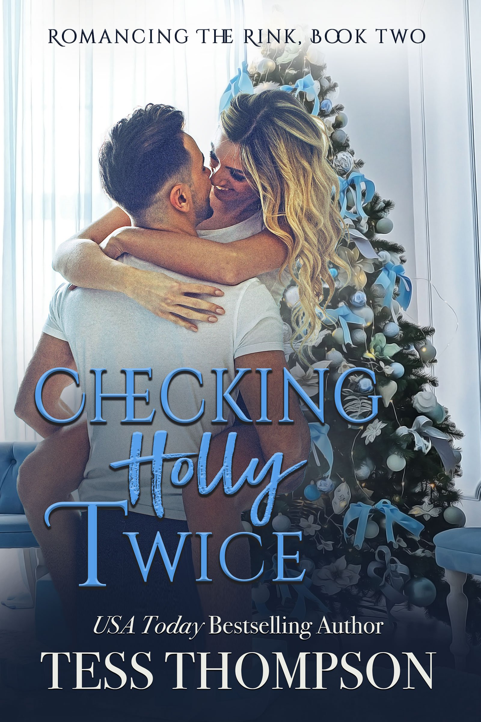 Checking-Holly-Twice-e-reader